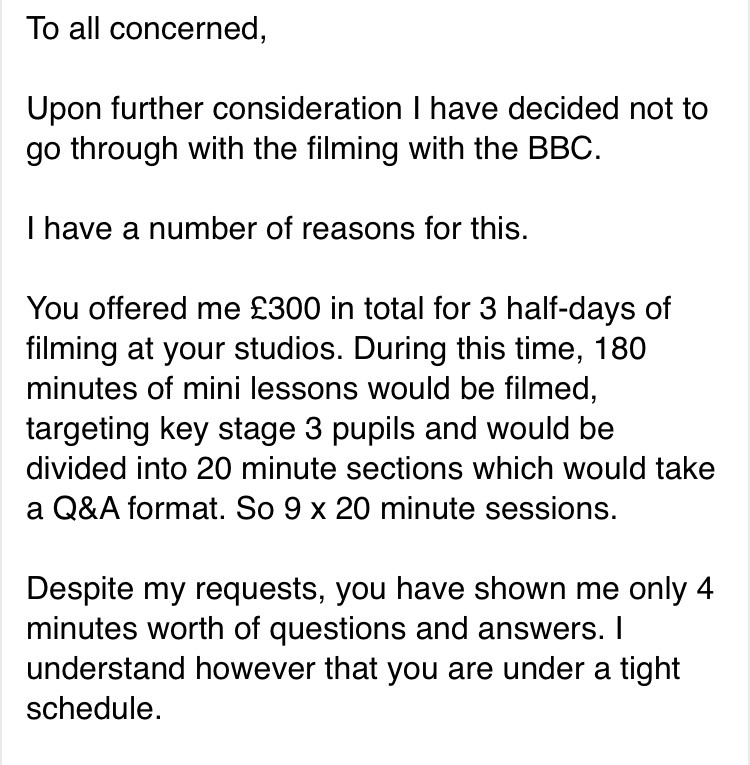 BBC email 1